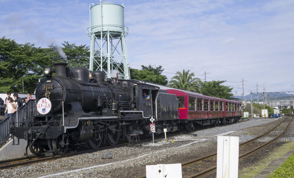 Kyoto railway steam train