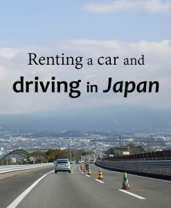 Renting a car driving in Japan