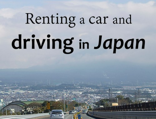 Renting a car and driving in Japan