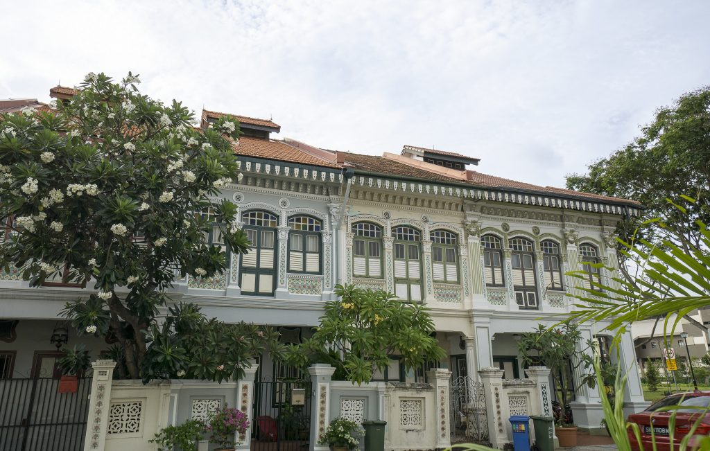 Peranakan houses seen whilst staying in Singapore's East Coast area