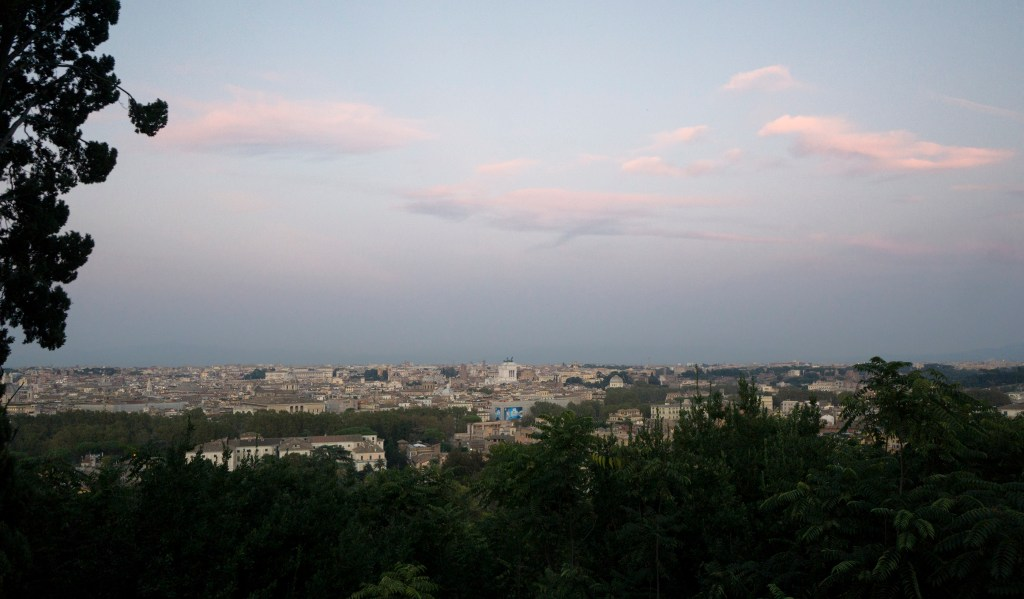 view of Rome from Janiculum Terrace