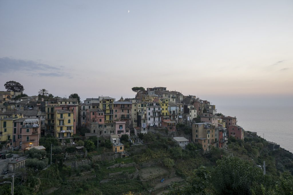 Corniglia sunset view