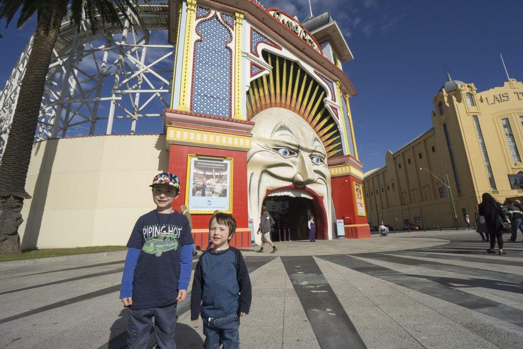 Luna Park Melbourne with kids