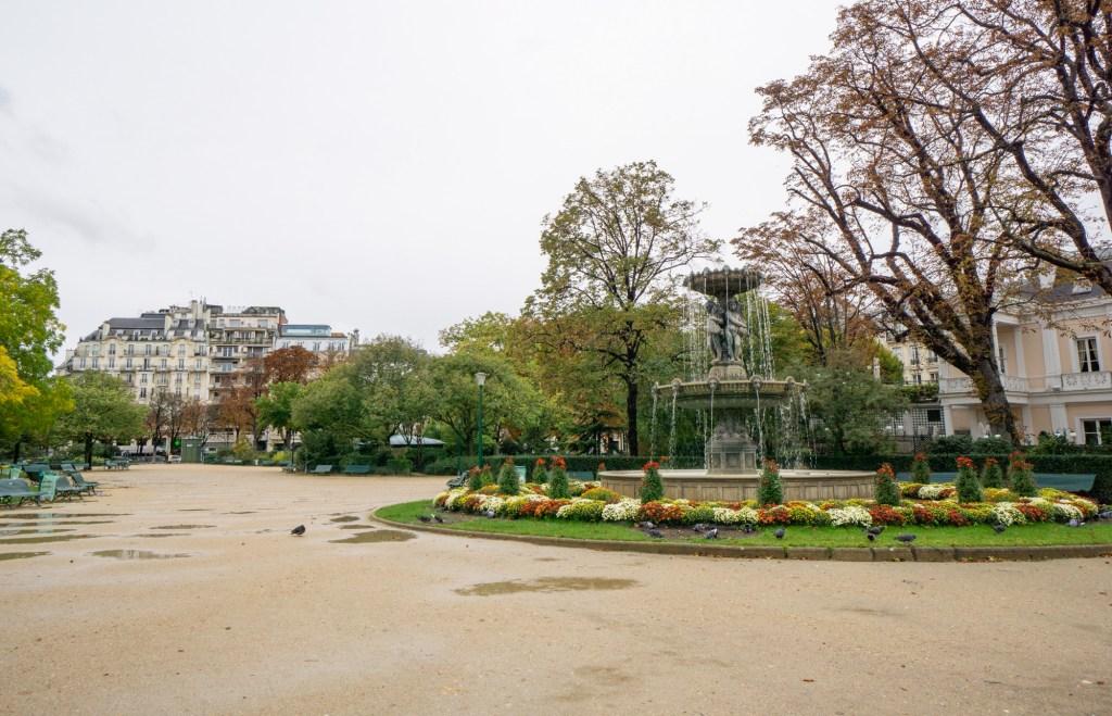 Walking through a Paris park