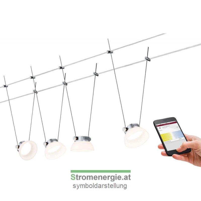 SmartHome BLE IceLED Wire System 4x4W Chrom matt/Weiß 230V