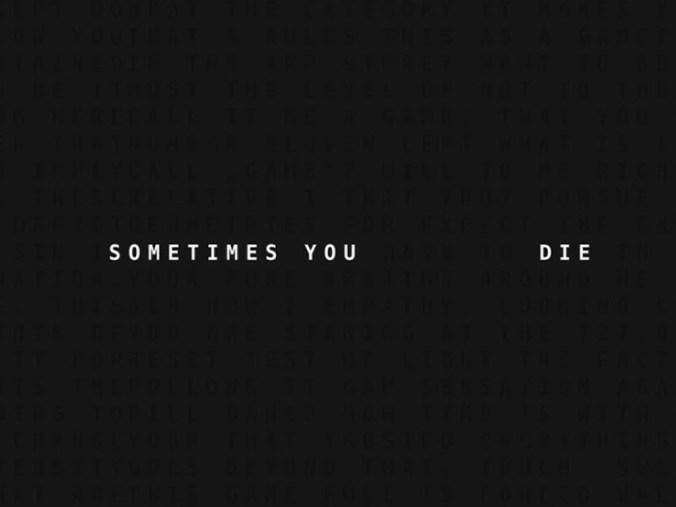 Sometimes You Die 01