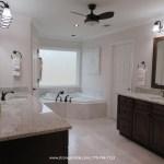 White Marble Master Bathroom Strong Arm Tile