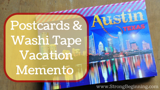 Postcards & Washi Tape Vacation Memento