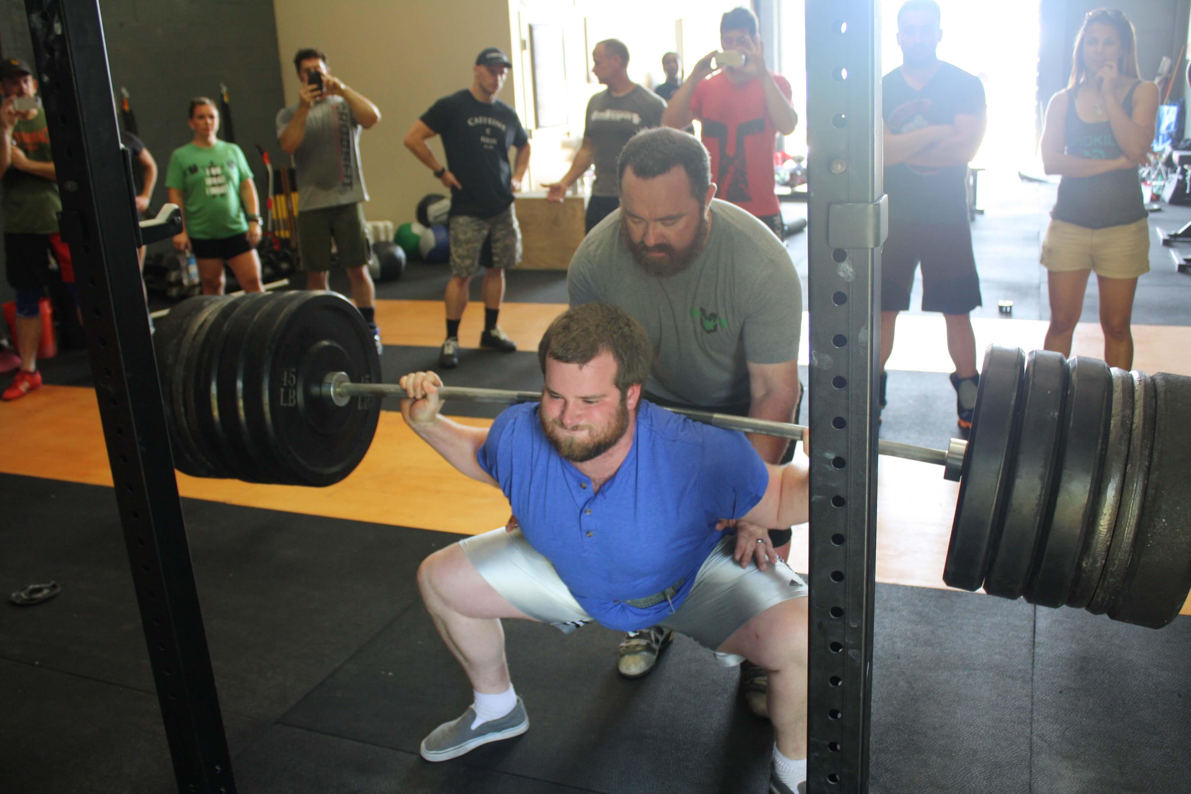f1f848ce1b8e6a High Bar vs. Low Bar Squatting. Greg hits parallel in a squat.