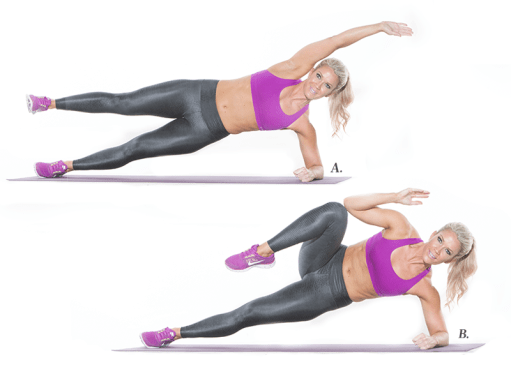 Image result for Side Plank Bends Left and Right: