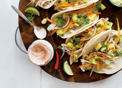 Fava Bean Chicken Taco