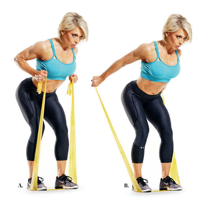 Resistance Band Exercises for Body Workout. Exercise Motivation Tips