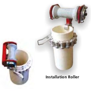 bore pump installation roller used for easy installation of bore pumps
