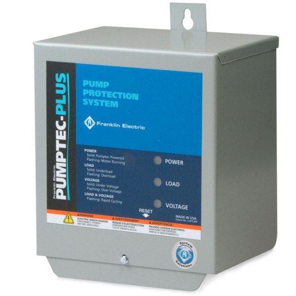 Franklin Electric Pumptec Plus single phase motor protection