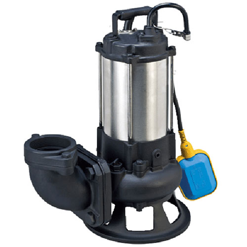 Sewage cutter pump with automatic float switch