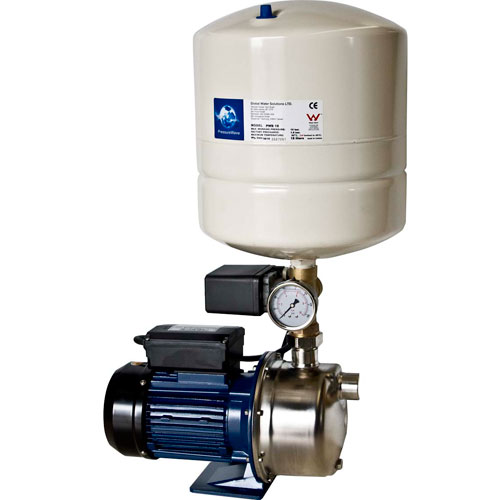 Automatic Household Pressure Pump with Pressure Tank. Automatic drinking water pressure pump. Drinking water pressure pumps