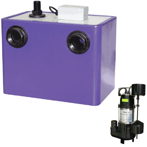 Reefe undersink pump system with automatic dump timer