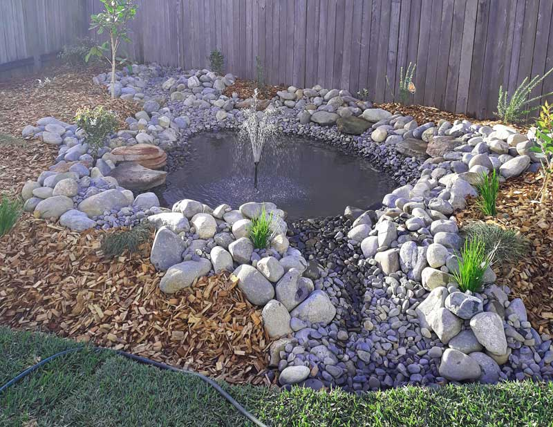 solar fountain pond pump with battery backup installation