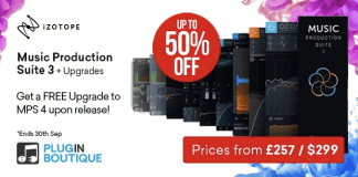 iZotope Music Production Suite 3 + FREE MPS 4 Upgrade Sale