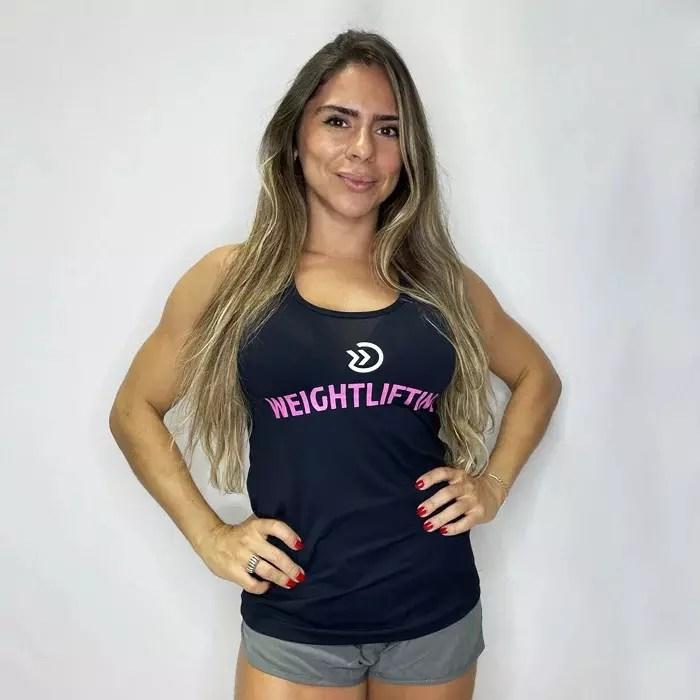 REGATA FEMININA ONSETE FITNESS - WEIGHTLIFTING BLACK/PINK
