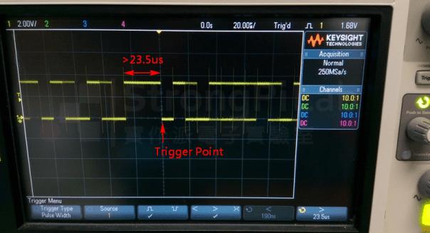 Pulse width trigger