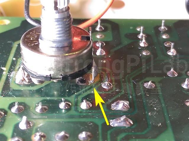 可變電阻PAD脫落焊接不良