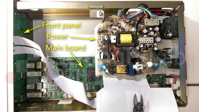 Connection inside counter
