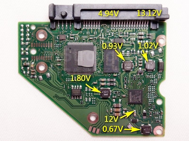 Disk4電路板的電壓