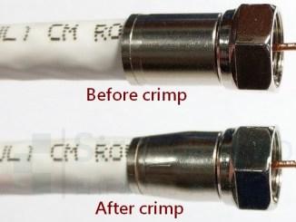 同軸電纜壓接前後比較