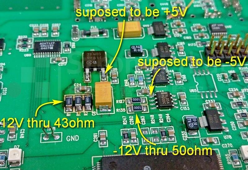 儀器維修-泛黃的RF電源電路