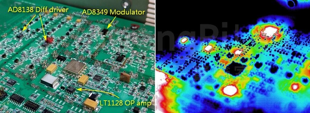 射頻RF電路的熱影像