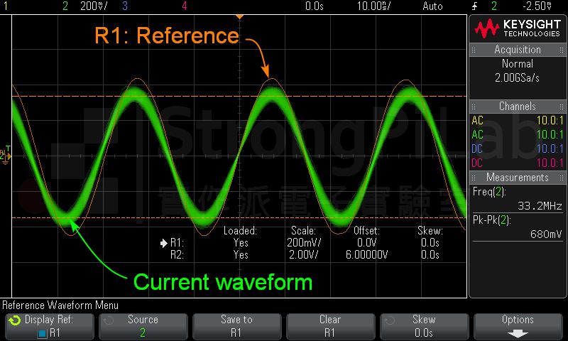 示波器 MEAS 的Reference功能範例