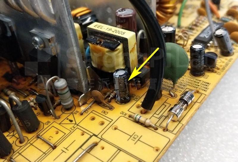 T3變壓器C8電容故障產生高頻聲