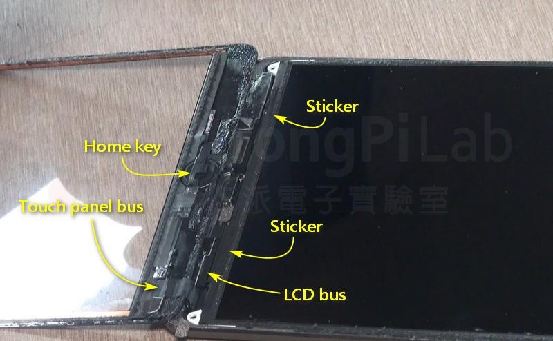觸控螢幕翻開後的iPAD