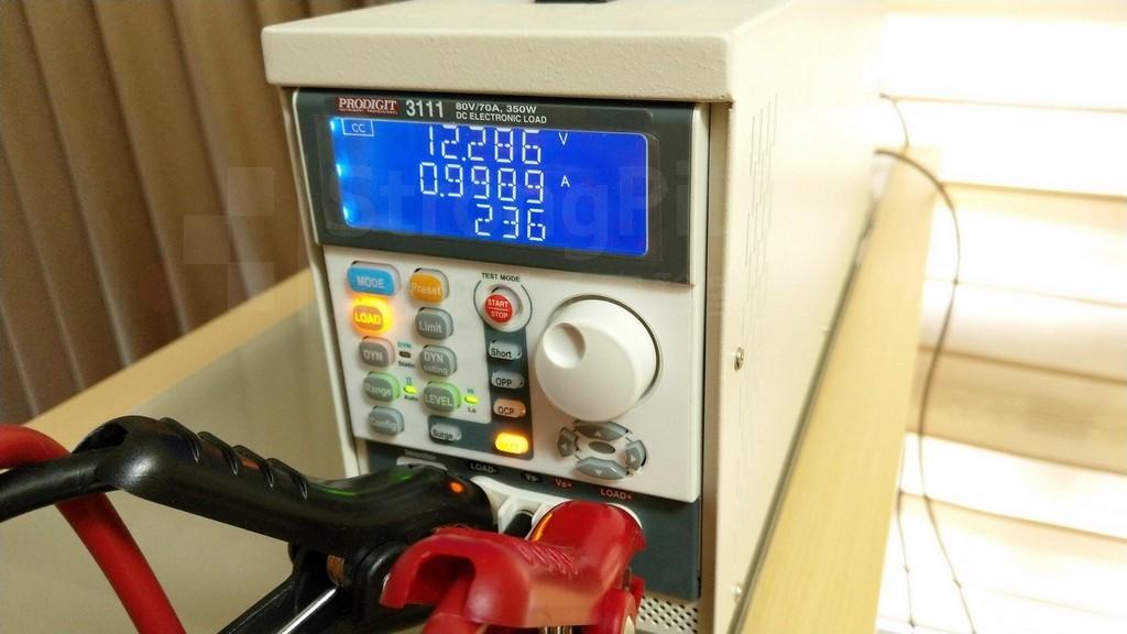 電子負載正測試 電池的容量