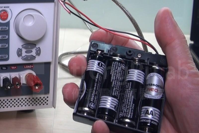 測試碳鋅 電池的容量
