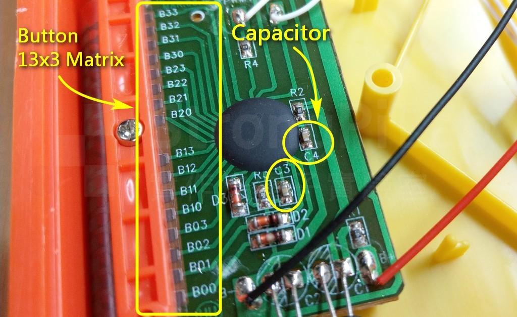 聲音模組的電容位置
