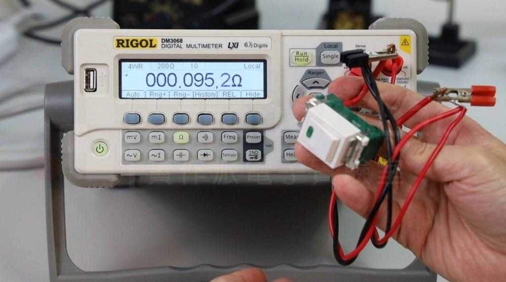 電燈開關的接觸電阻大約是0.095Ω