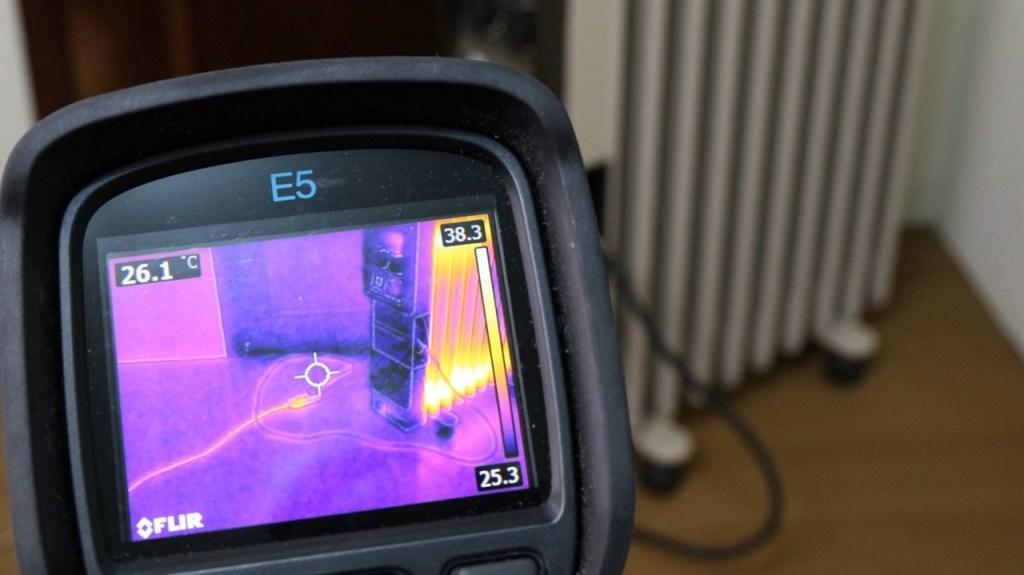 用熱顯像儀觀察電線的升溫現象