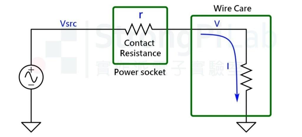 插座老化 偵測器的等效電路