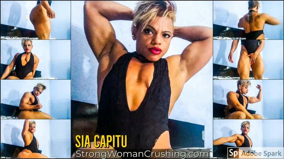 Sia Capitu posing in lingerie