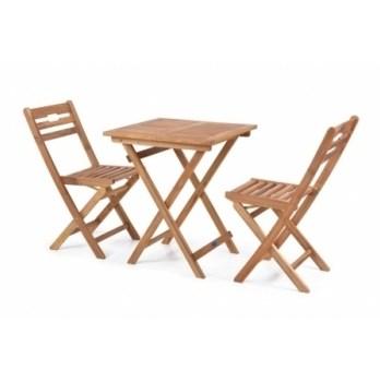 Masa Hecht Balcony cu 2 scaune lemn masiv
