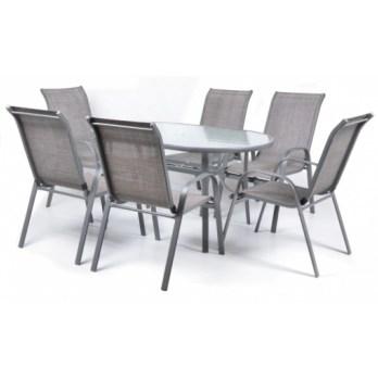 Masa Hecht Economy cu 6 scaune schelet metalic