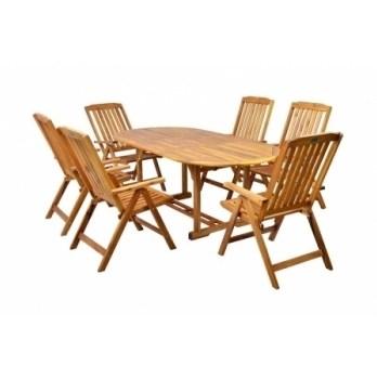 Masa Hecht Leader Set cu 6 scaune lemn masiv