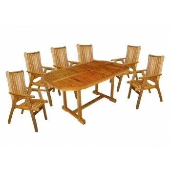 Masa Rounded Set cu 4 scaune lemn masiv