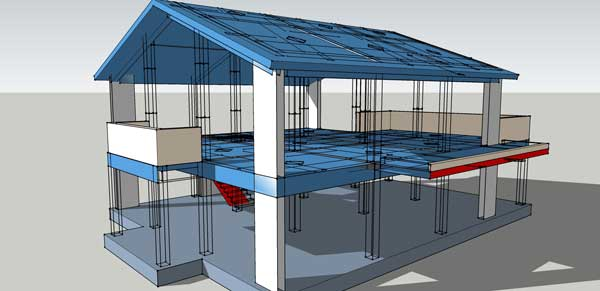 Complete Structural Design Drawings Of A Reinforced Concrete House