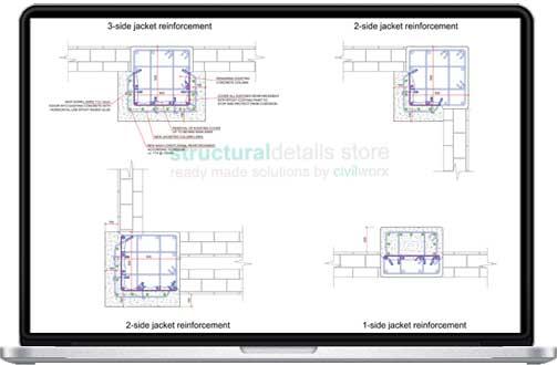 Partial Reinforced Concrete Column Jacketing Details