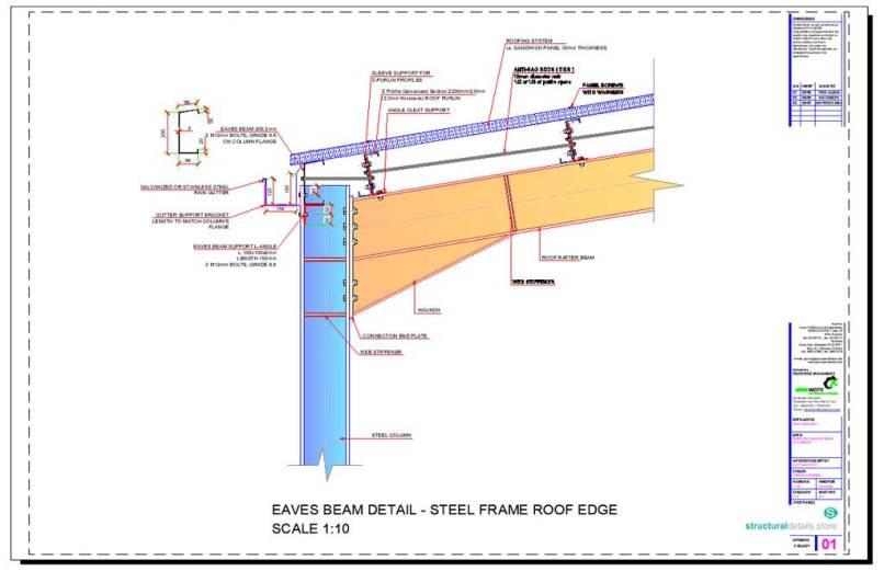 Steel Frame Roof Detail Frameswalls Org