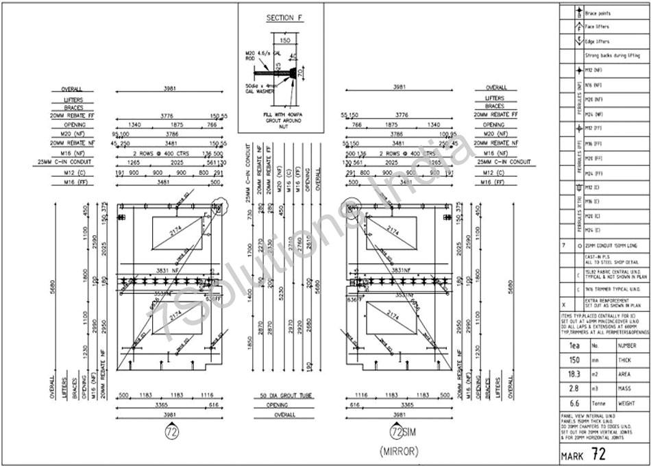 Precast Detailing Sample| Precast Concrete Wall Panels