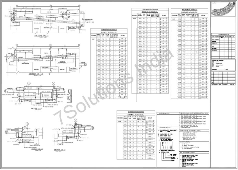 Rebar Detailing Sample| Rebar Drawing Sample| Steel Rebar